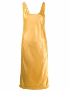 Acne Studios satin midi dress - Yellow