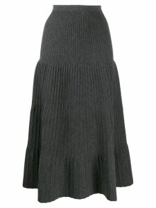 Dsquared2 tiered pleated skirt - Grey