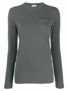 Brunello Cucinelli chest pocket top - Grey