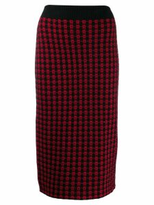 Red Valentino jacquard knit fitted skirt