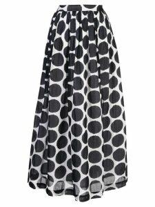 Le Sirenuse pois print skirt - Black