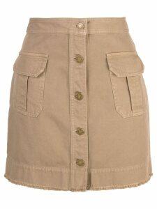 Nili Lotan Sahara mini skirt - Brown