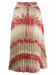 Red Valentino high-waist floral printed skirt - NEUTRALS