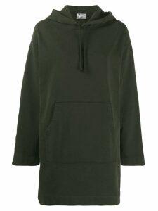 Acne Studios oversized hoodie dress - Green