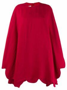 Valentino puffball hem short dress - Red