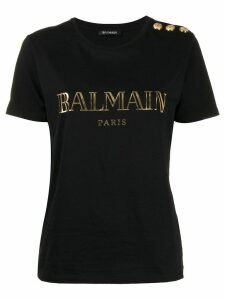 Balmain logo printed T-shirt - Black