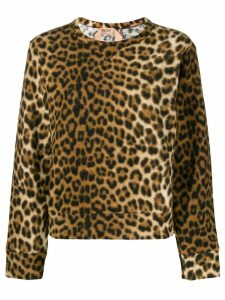 Nº21 leopard-print sweater - Brown