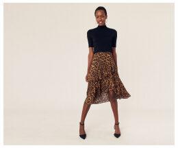 Leopard Tiered Skirt
