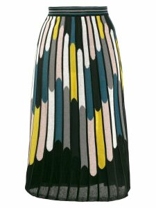 M Missoni striped A-line skirt - Black