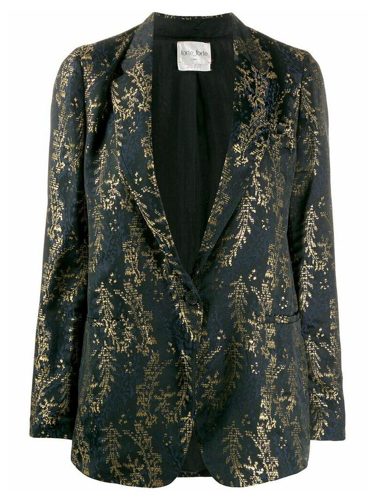 Forte Forte embroidered blazer - Black