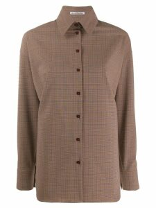 Acne Studios oversized check shirt - Brown