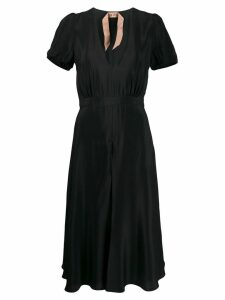 Nº21 short-sleeved flared dress - Black