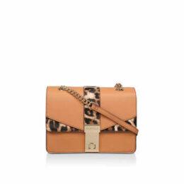 Carvela Olly Chain X Body Bag - Tan Leopard Print Cross Body Bag