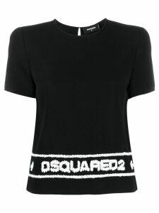 Dsquared2 logo stitched T-shirt - Black
