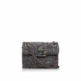 Kurt Geiger London Tweed Mini Kensington X - Black Tweed Mini Shoulder Bag