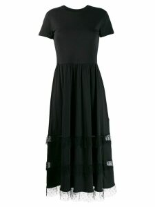 Red Valentino tulle-insert T-shirt dress - Black