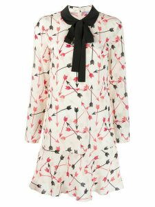 Red Valentino pussy bow shift dress - Neutrals