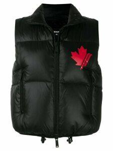 Dsquared2 logo print puffer vest - Black