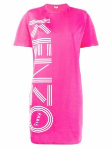 Kenzo logo print T-shirt dress - Pink