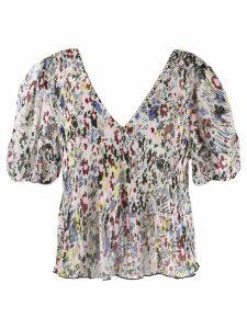 Ganni floral print blouse - Pink