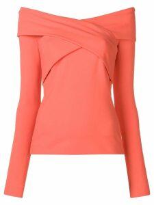 Emilio Pucci Off-Shoulder Crossover Top - Orange