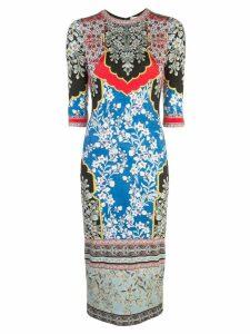 Alice+Olivia Delora fitted midi dress - Multicolour