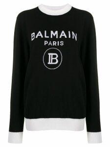 Balmain knitted logo sweater - Black