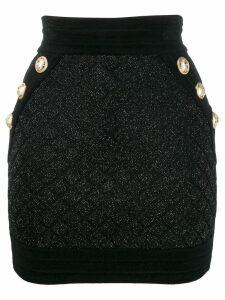 Balmain iridescent mini skirt - Black