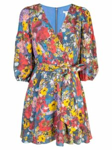 Alice+Olivia Kerri Bishop blossom wrap dress - Blue