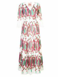 Le Sirenuse Pizzica print dress - White