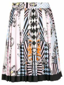 Versace Angeli Optical Illusion print skirt - Multicolour