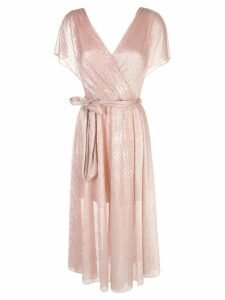 Alice+Olivia Darva wrap midi dress - Gold