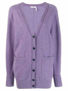 Chloé v-neck cardigan - 575 Shadow Purple