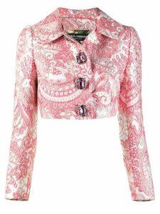 Dolce & Gabbana jacquard crop jacket - Pink