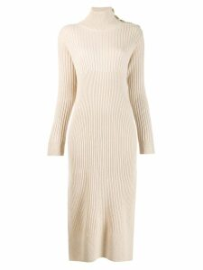 See By Chloé knitted roll-neck dress - Neutrals