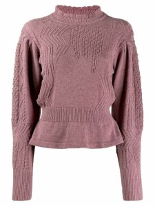 Isabel Marant Étoile peplum hem sweater - Purple