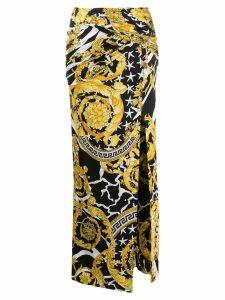 Versace barocco print long skirt - Black