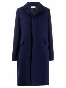 Marni concealed front coat - Blue