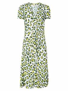 Diane von Furstenberg Cecilia leopard print dress - White