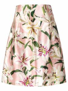 Dolce & Gabbana floral print silk skirt - Pink