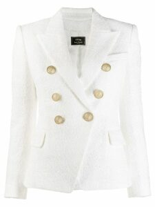 Balmain x Julian Fashion double-breasted tweed blazer - White