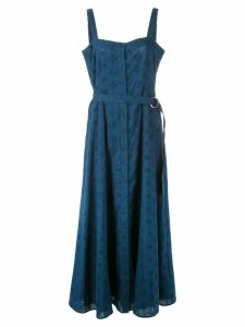 Cinq A Sept Alix embroidered midi dress - Blue