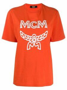 MCM logo print T-shirt - Orange