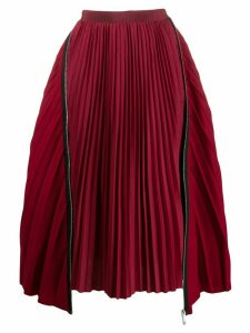 Sacai Melton skirt - Red