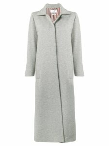 Thom Browne Cashmere Ankle Length Overcoat - Grey