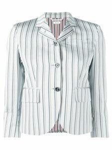 Thom Browne Stripe Silk Classic Sport Coat - Grey