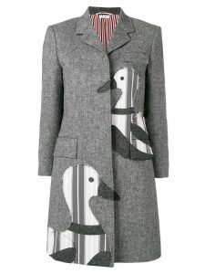 Thom Browne Donegal Tweed Chesterfield Overcoat - Grey