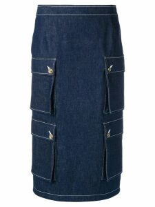 Thom Browne Navy Hunting Cardigan Skirt - Blue