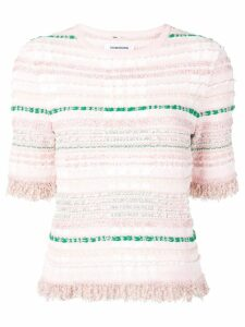 Thom Browne Light Pink Knit Tweed Tee