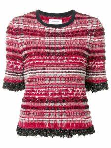 Thom Browne RWB Knit Tweed Tee - Red